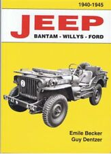La bible ! JEEP EMILE BECKER 1940-1945 Jeep Willys Ford USA WW2 WWII CADEAU NOEL