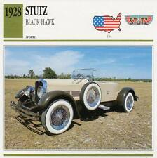 1928 STUTZ BLACK HAWK Sports Classic Car Photo/Info Maxi Card