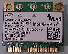 Intel vPro 5300 533AN HMW Half Mini WLAN Wireless for notebooks Dell P/N 0N230K