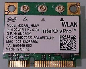 Intel vPro 533AN HMW Half Mini WLAN Wifi link 5300 for notebooks Dell P/N 0N230K