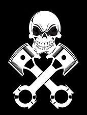 high detail airbrush stencil  skull crosspistons two FREE POSTAGE