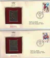 Great Britain 1022 - 1026 - British Army. Gold Replica  FDC.  #02 GB1022FDCs