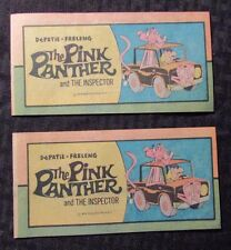 1976 THE PINK PANTHER #1 FVF Western Publishing Mini-Comic LOT of 2
