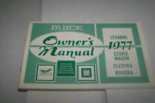 1977 BUICK LESABRE ELECTRA RIVIERA car owners manual