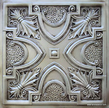 Faux tin ceiling tile TD11 Antique White glue up/drop in lot of 50pc ~200 sq.ft.