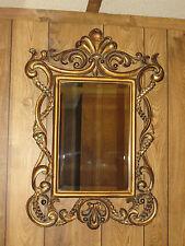 Vintage Hollywood Regency Ornate Beveled Wall Mirror ~ 32x21