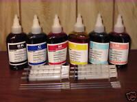Bulk 600ml refill ink for Canon inkjet printer 6 colors