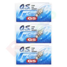 3PCS OS G5 GLOW GASOLINE PLUG GGT10 GGT15 GG SERIES # OS71655001 O.S. Engines