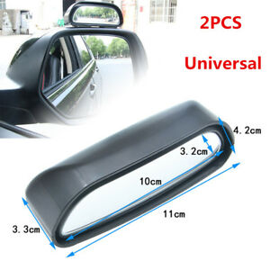 2PCS Car Truck Rearview Mirror Blind Spot Side Wide Angle View Glass Adjustable