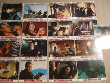 JAMES BOND 007 - SAG NIEMALS NIE - 17 Aushangfotos Lobbycards SEAN CONNERY (#2)
