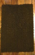 Indian Cotton Shaggy Bobble Rug Decorative 2 sizes Brown Black Pile Mat