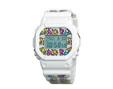 Casio G-Shock DW5600 Keith Haring x G-Shock Digital White/Multi Men's Watch
