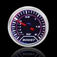 "Auto Car Truck Gauge Pod Turbo Boost Gauge Meter Pointer -1-2 Bar 2"" 52mm"