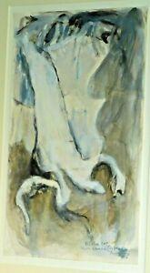 Vintage English Modernist Abstract Oil Painting Phillip Jones 1986 Original Sign