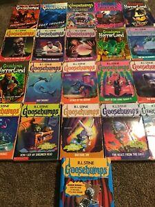 20 Vintage Set Goosebumps Books Original R.L.Stine Chapter Books Youth