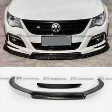 For Volkswagon VW 09-12 Passat CC EPA Front Bumper Lip Carbon Fiber 2Pcs
