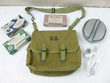 SET US ARMY WW2 M1936 MUSETTE BAG Kampftasche + Essbesteck Rations Kochgeschirr