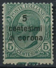 Austrian Acquired Italy 1921-2 SG#77 5c di c On 5c MNH Perf Shift Error #D9112