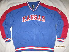 Kansas Jayhawks Jacket Coat Pullover Windbreaker Mens Large NCAA KU
