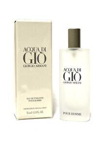 Acqua Di Gio by Giorgio Armani Cologne Men 0.5oz-15ml EDT Spr Travel Size  (C72