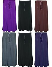 Womens Ladies Plus Size Plain Stretch Flared Maxi Elasticated Skirt 14 TO 28