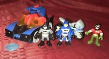 FISHER PRICE IMAGINEXT BATMAN CLASSIC BATMOBILE Motorcycle Robin Batman Figures