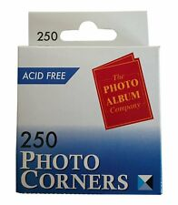 250 PHOTO CORNERS TRANSPARENT ACID FREE SELF ADHESIVE CHEAP DIY CRAFT PICTURES