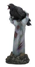 "11"" Crow on Zombie Hand Statue Figurine Collectible Gothic Decor Fantasy Figure"