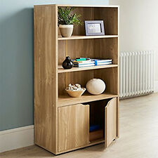 Turin Bookcase Storage Unit With 3 Shelves DVD/CD Storage Unit