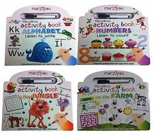 Wipe and Clean Simple First Activities 4 Books Collection Set Animals Numbers BN