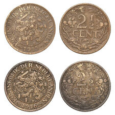 Netherlands - Lot  2½ Cent 1915, 1916