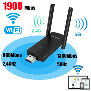 Dual Band 1900Mbps USB 3.0 Wifi Adapter 802.11ac w/Antenna For Computer Desktop