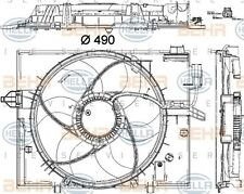 HELLA 8EW 351 040-431 FAN RADIATOR FITS BMW 5 (E60) PETROL 40 WHOLESALE PRICE