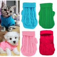 XXXS XXS XS Cat Knitted Sweater Puppy Winter Coat Clothes for Kitten Kitty Dog
