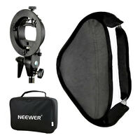 "Neewer 32x32"" Softbox with S-type Speedlite Flash Bracket Mount for Photography"