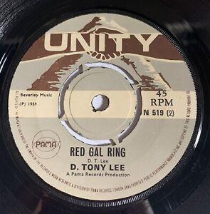 D.Tony Lee Peyton place / Red Gal Ring Original Uk Unity 45' 1969 Ska !!