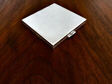 ~ FANTASTIC DUNHILL STERLING SILVER COMPACT CLEARVIEW NO MONOGRAM