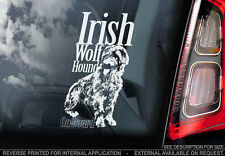 Irish Wolf Hound - Car Window Sticker - Dog Sign -V01