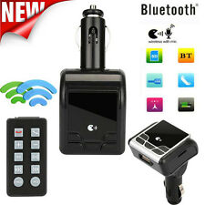 AUTO KIT BLUETOOTH WIRELESS FM Trasmettitore AUX RADIO ADATTATORE MP3 VIVAVOCE