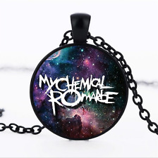 My Chemical Romance Black/Bronze/Tibet silver Glass Dome chain Pendant Necklace