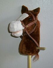 Hobby Horse with wheels and sounds - Chestnut brown