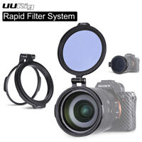 49mm-82mm UURig Quick Switch Filters Mount Bracket Clip for DSLR Camera Lens