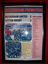 Rotherham United 2 Leyton Orient 2 - Rotherham promoted - 2014 - framed print