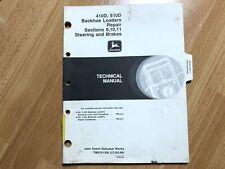 John Deere 410d 510d Backhoe Loader Technical Repair Manual Steering Amp Brakes