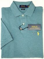 NEW $85 Polo Ralph Lauren Green Hthr Short Sleeve Shirt Mens Classic Cotton Mesh