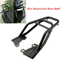 1xUniversal Motorcycle Metal Rear Shelf Refitted Box Tail Fin Luggage Rack Black