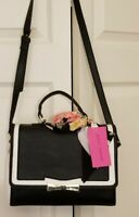 Betsey Johnson Satchel Crossbody Top Handle Double Entry purse with Scarf NWT
