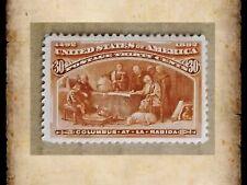 US Scott 239 30 Cent Columbian Exposition Issue 1893 Single Stamp Unused OG MH