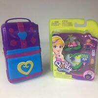 Polly Pocket Hidden n Plain Sight Beach Vibes Backpack- New Heart Shape Compact