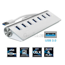 New USB 3.0 Hi-Speed 7 Port Multi Hub Expansion Splitter For PC Laptop Notebook